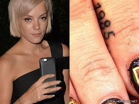lily allen wrist tattoo allen s tattoos meanings style