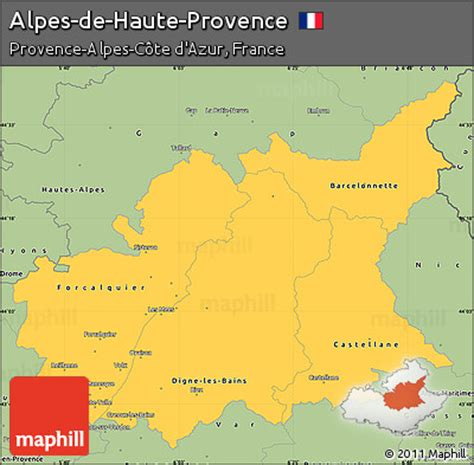 What Are The Different Home Styles by Free Savanna Style Simple Map Of Alpes De Haute Provence