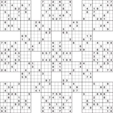 printable samurai sudoku grid buy samurai sudoku logic puzzles from any puzzle media