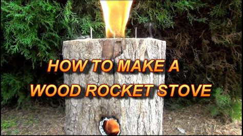 Can I Build A Fire Pit In My Backyard How To Make A Wood Rocket Stove Easy Amp Multi Use Youtube