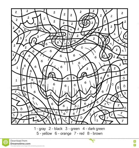 halloween coloring pages numbers color by number halloween coloring pages