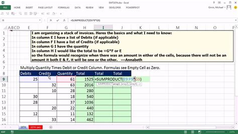 Debit Credit Formula Excel Excel Magic Trick 1074 Multiply Quantity Times Debit Or Credit 3 Formulas Exles