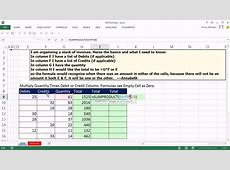 Excel Magic Trick 1074: Multiply Quantity Times Debit or ... Excel Spreadsheet With Formulas Examples