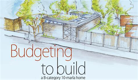 Home Design For 5 Marla Budgeting To Build A B Category 10 Marla Home Zameen Blog