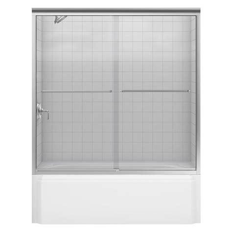 Fluence Shower Door Coupons For Kohler Fluence 59 5 8 In X 70 5 16 In Semi Frameless Sliding Shower Door In Bright