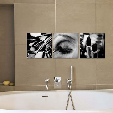 bathroom canvas bathroom decor canvas art black and white makeup by