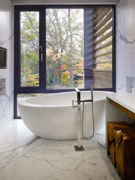impressive modern home in toronto canada light marble bathroom impressive modern home in toronto
