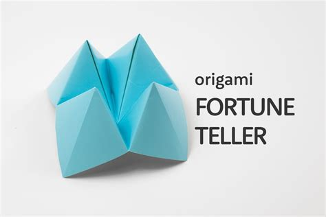 Fortune Origami - how to make an origami cootie catcher