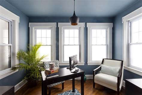 Blue Office by Traditional Blue Home Office Hgtv