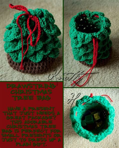 pattern for christmas tree bag 1000 images about crochet for holidays on pinterest