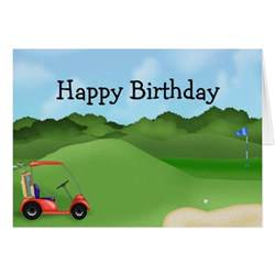 golf birthday card zazzle