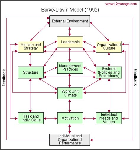kausales modell organisatorischer leistung und veränderung