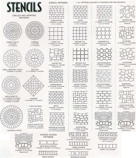 concrete templates concrete stencil patterns pattern collections