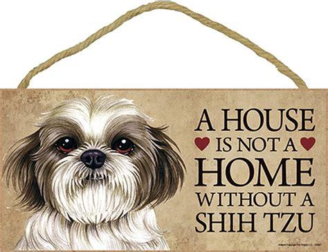 shih tzu dog house shih tzu wood dog sign wall plaque 5 x 10 puppy cut bonus coaster
