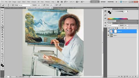 bob ross painting in photoshop photoshop masking tutorial cs5 becoming bob ross