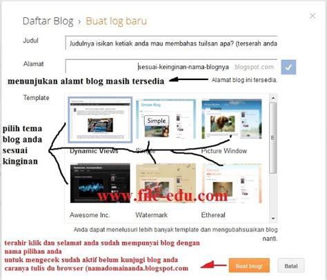 cara membuat website lewat blogspot cara membuat blog atau website di blogspot alsen saloka