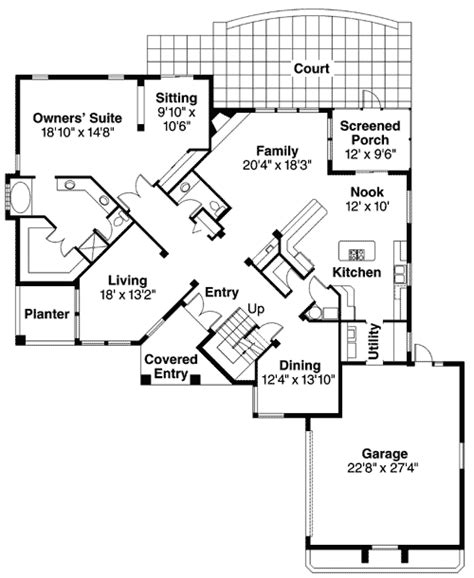cross floor plan cross diagonal living pattern 72187da architectural designs house plans