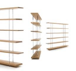 Chinese Bookcase Modern Library In Metal With Shelves In Solid Oak Idfdesign