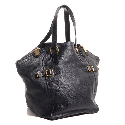 Richardss Yves Laurent Downtown Tote by Yves Laurent Leather Medium Downtown Tote Midnight