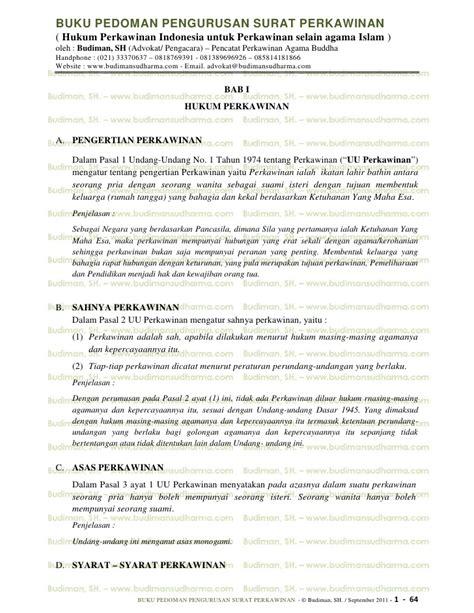 buku pedoman pengurusan surat perkawinan