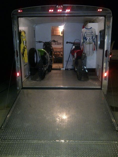 motocross bike setup top 25 best enclosed trailers ideas on