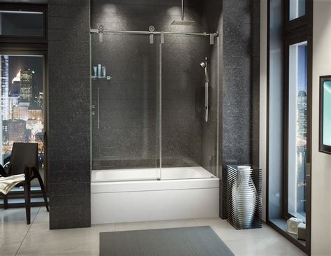 Fleurco Shower Door by Fleurco Glass Shower Doors Kinetik Ks In Line Tub