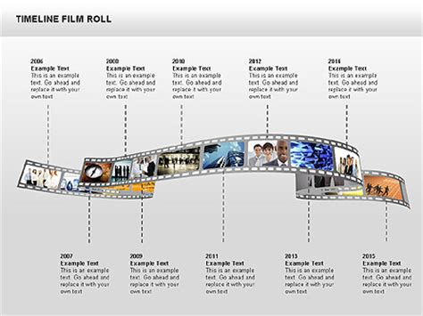 timeline film roll for presentations in powerpoint and