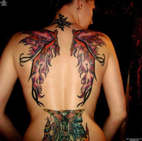 fairy back tattoo designs wings design tattoos