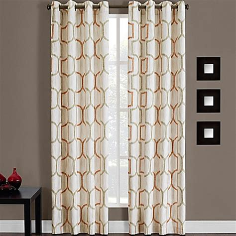 95 inch grommet curtain panels buy portinari grommet top 95 inch window curtain panel in