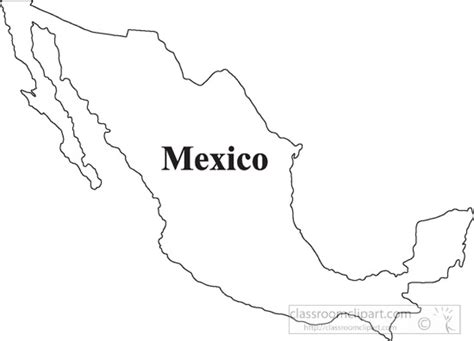 outline map of usa and mexico country maps clipart mexico outline map clipart 13