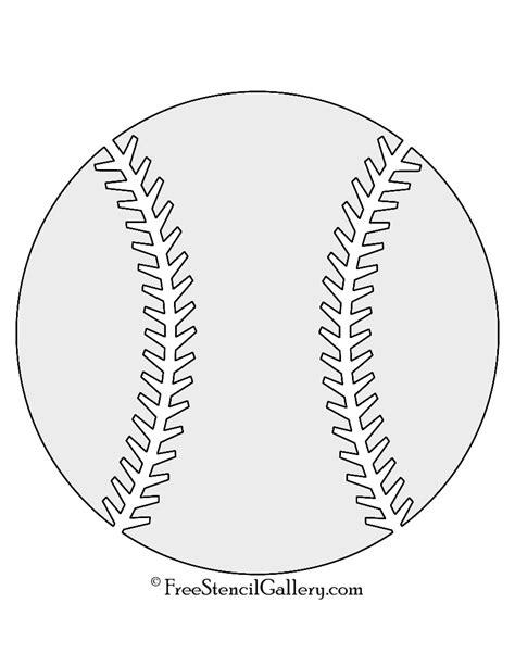 baseball stencil free stencil gallery