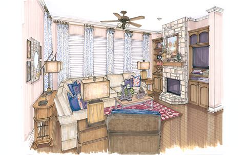 interior design colored renderings flower mound kristy