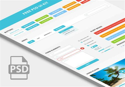 bootstrap layout psd free psd ui kit based on bootstrap components suitable
