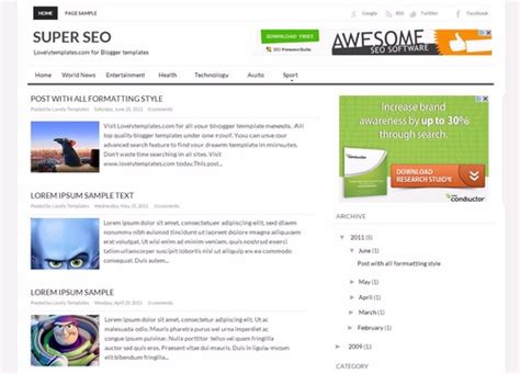 Template Seo by 10 Best Free Templates Of All The Time Trixking