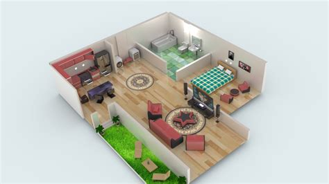 Model Download: Miniature House BlenderNation
