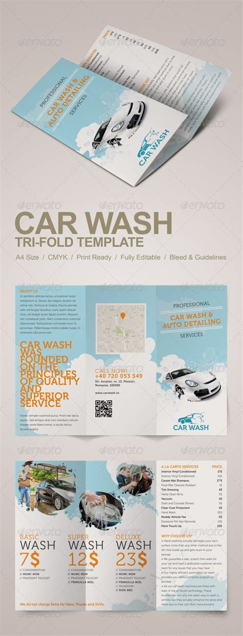 Free Flyer Templates For Auto Detailing Downloads 187 Fixride Com Car Detailing Template