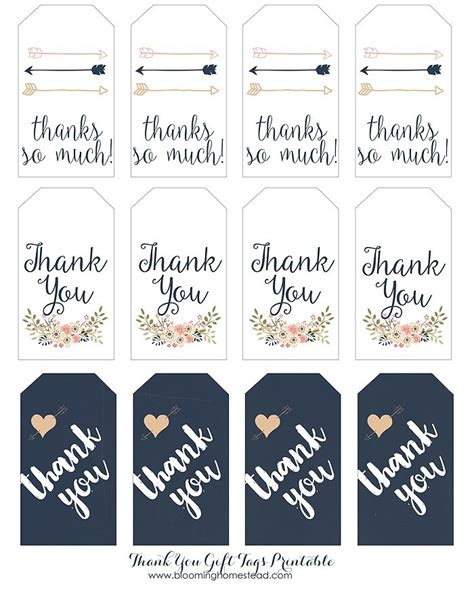 Thank You Gift Tags Wedding Favors Pinterest Homesteads Free Printable And Gift Cheer Bag Tag Template