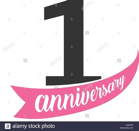 Marriage Anniversary Card Vector by Anniversary Vector Logo Number 1 Illustration For