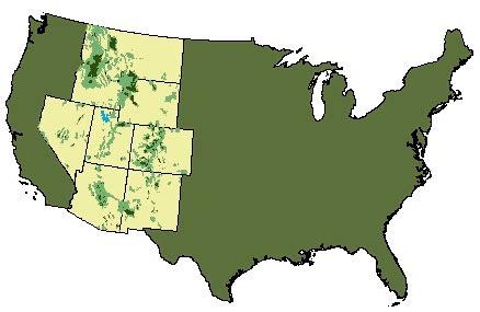 Interior Region by Interior West Forest Inventory Analysis Welcome