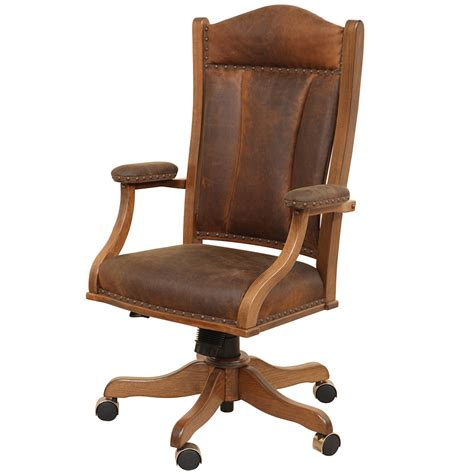 Jefferson Chair by Jefferson Amish Desk Chair Amish Office Furniture