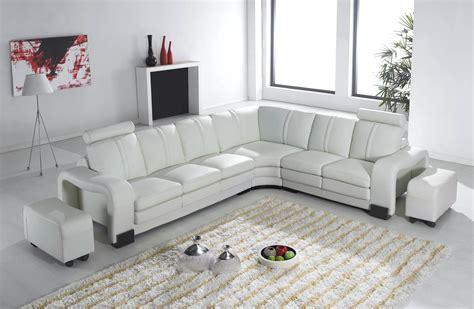 canape blanc d angle deco in canape d angle en cuir blanc avec appuie