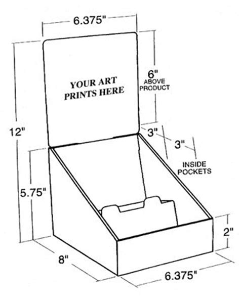 17 Best Ideas About Display Boxes On Pinterest Glass Display Box Display Ideas And Free Boxes Cardboard Counter Display Template
