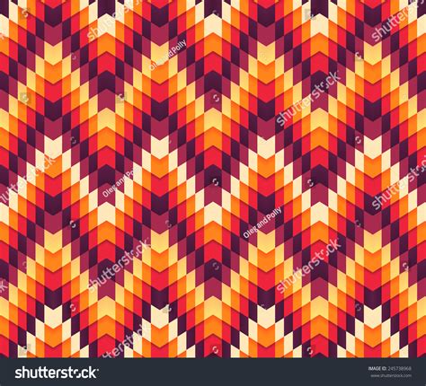 beautiful pattern using different shapes beautiful trendy colorful seamless serrated pattern