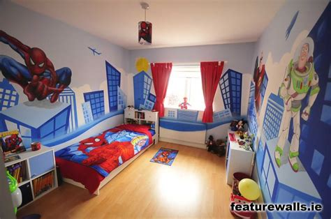 super hero bedroom kids murals childrens rooms decorating kids rooms super