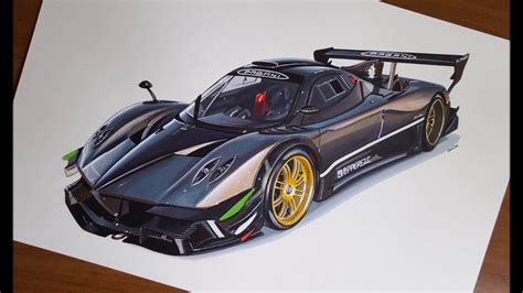 pagani drawing drawing pagani zonda r youtube