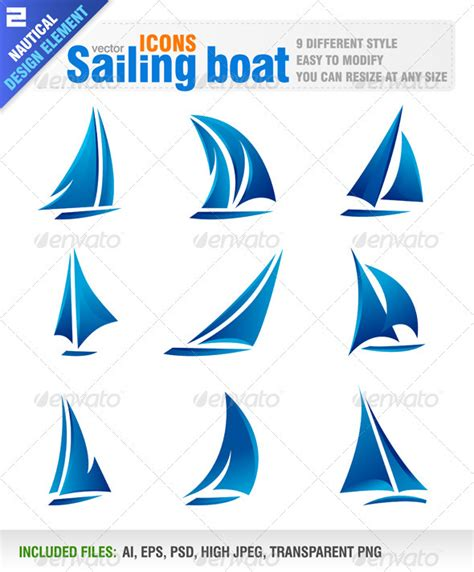 sailing boat by jackrust graphicriver
