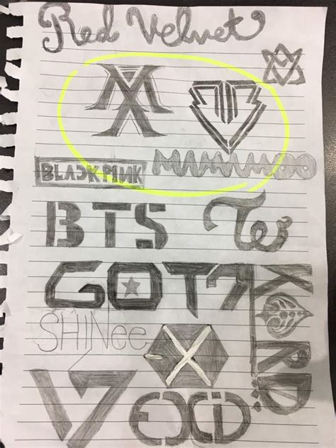 desenho kpop desenho das logos de kpop kpop amino