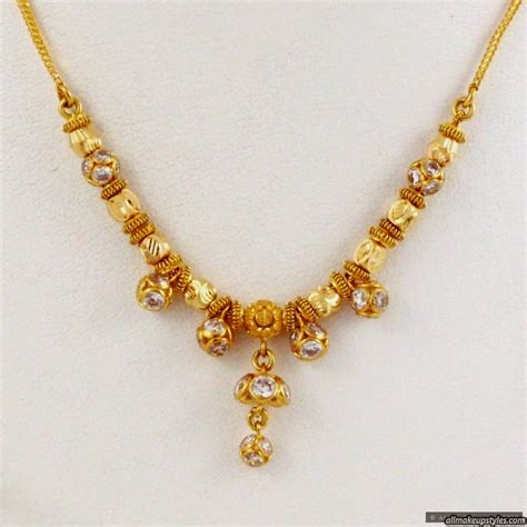 jewellery designs 22 kt simple gold necklace for