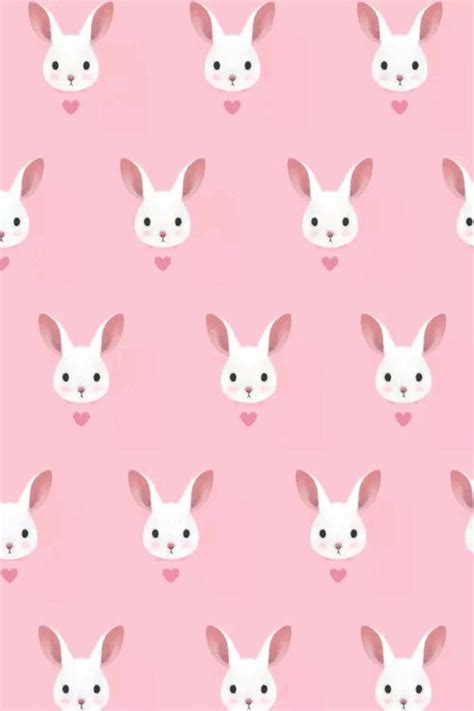 Girly Easter Wallpaper | bunny cute girly lovely pattern pink pretty wallpaper
