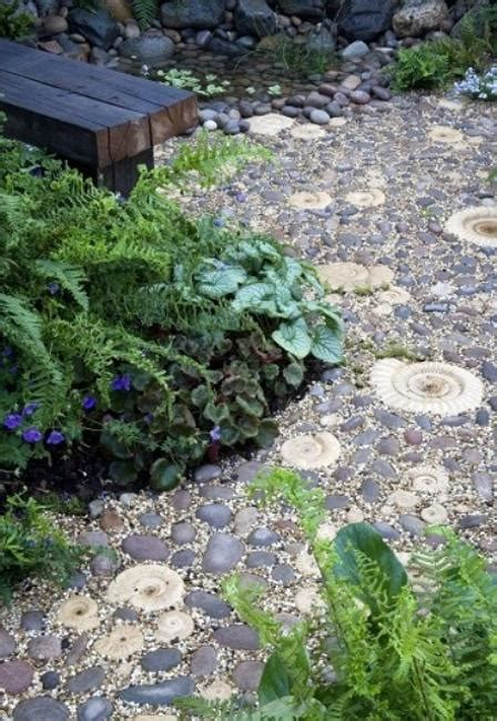 Pebble Garden Ideas Beautiful Garden Path Designs And Ideas For Yard Landscaping With Pebbles